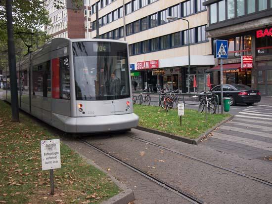 Sporvogn ved banegården i Düsseldorf