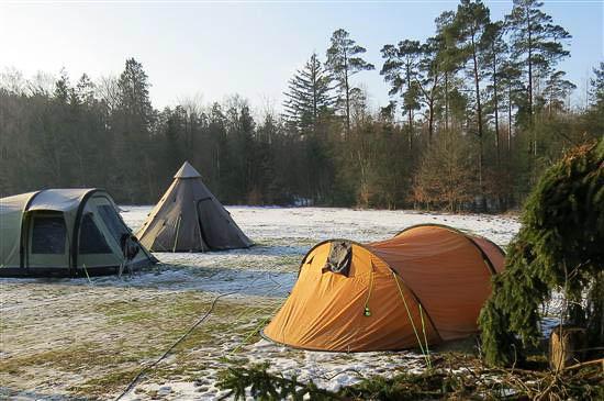 Et vue ud over Camp'en