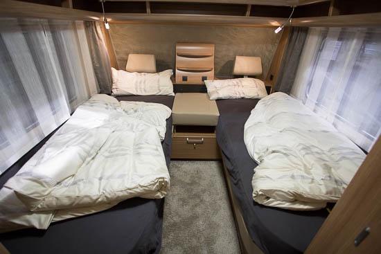 Soveafdelingen i Bianco Selection 515 SG er i særklasse