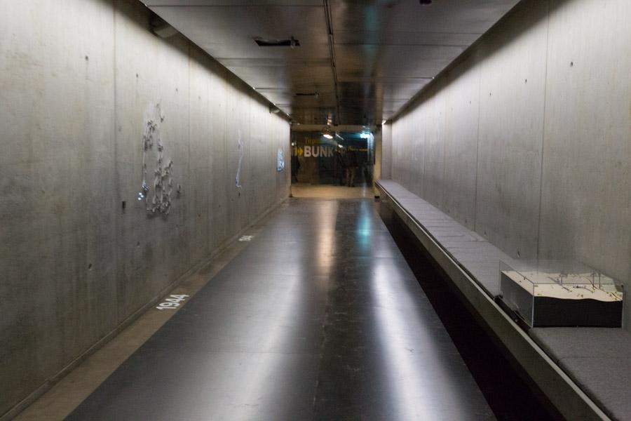 Udstillings-tunnellen ind til bunkeren