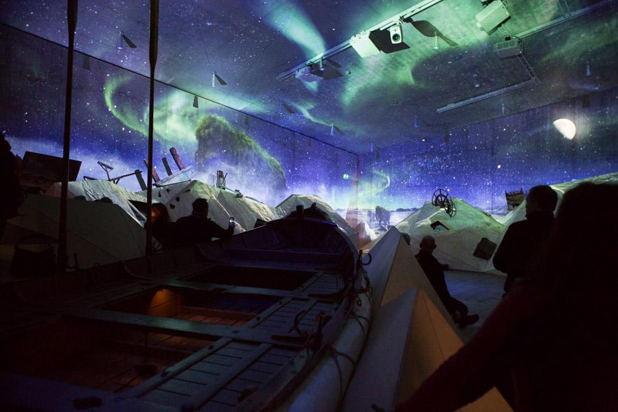 Redningsbåden er et godt sted at opleve tidsrejsen ' Fra mammut-slette til spidstelt'.