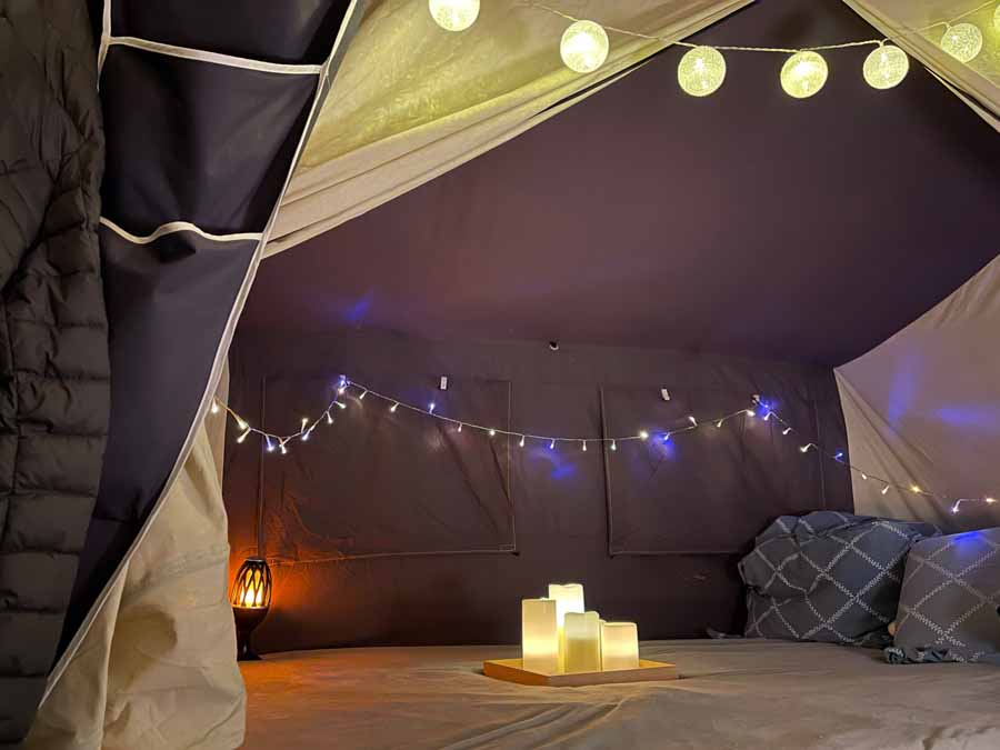 Bare fordi det er sidste aften på campingtur i Combi-Camp behøver man ikke at gå ned på hyggen