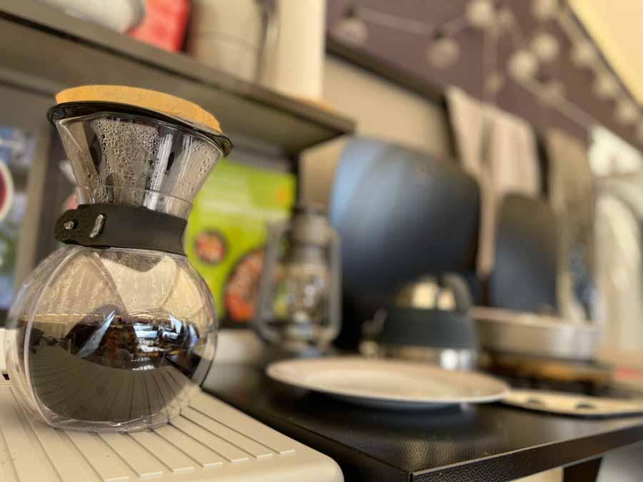vi har testet en ny kaffekolbe fra Bodum der er super egnet til campingture