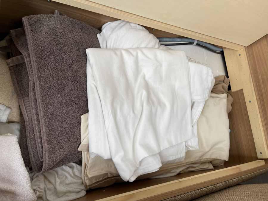 Så meget ekstra sengetøj og håndklæder behøver jeg vist ikke