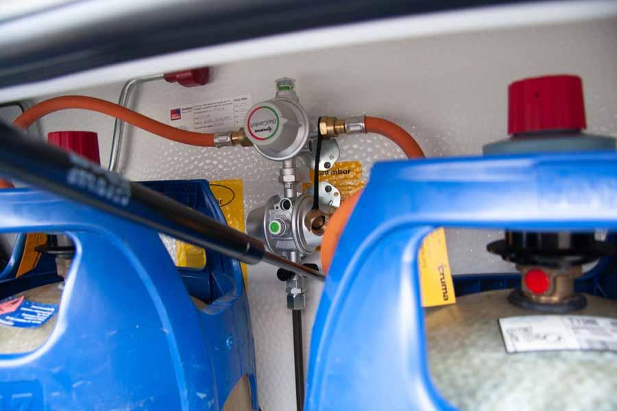 Truma Duo Control skifter automatisk væk fra den tomme gasflaske