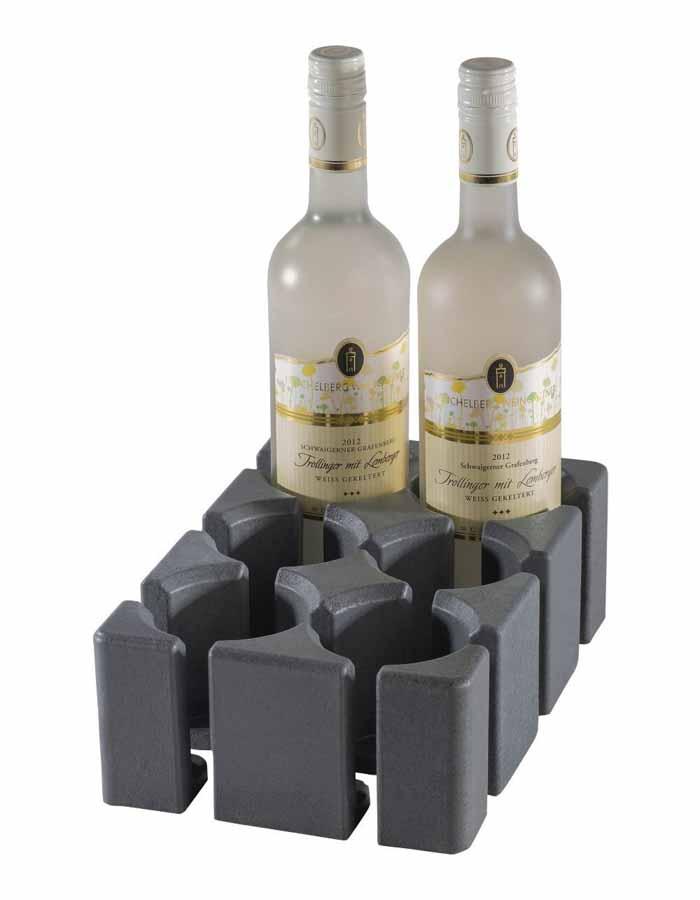 Kan bruges til glas, flasker eller placeres længere fra hinanden og bruges til større ting